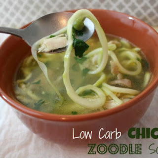 Low Carb Chicken Zoodle Soup