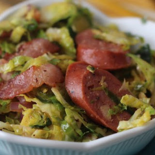 5 Ingredient Bacon Brussels Sprouts Slaw