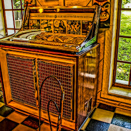 Highlighed Jukebox by Stephanie Turner - Artistic Objects Musical Instruments ( music, musical instrument, musical, artistic object, antique )