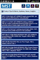 Screenshot of Stock Tips and Market Alerts