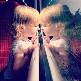 Tiny reflections.... by Sinéad Hingston - Babies & Children Child Portraits ( london, southwesttrains, train, window, pure )