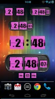 Screenshot of 3D Animated Flip Clock PINK