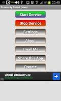 Screenshot of Proximity Smart Cover