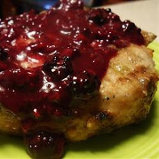 Pork Chops with Blackberry Port Sauce