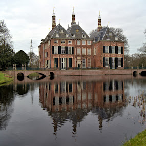 Voorschoten castle by Anita Berghoef - Buildings & Architecture Public & Historical ( reflection, building, park, mansion, castle, historical, architecture, bridges, pont, brige,  )