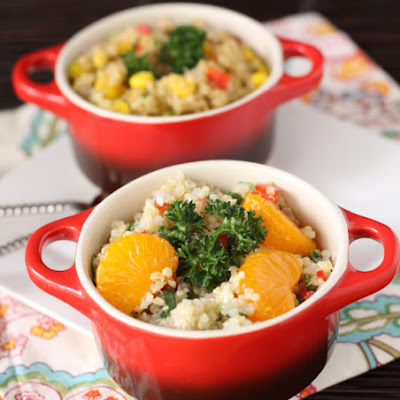 Feta Mandarin Asian Quinoa Salad