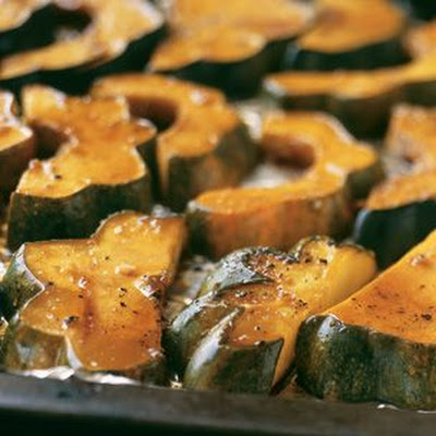 Maple-and-Soy-Glazed Acorn Squash
