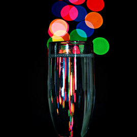 by Dipali S - Artistic Objects Glass ( lights, abstract, water, full, glass, bokeh, light )