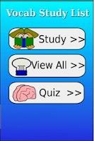Screenshot of Vocab Study List