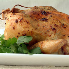 Roast Chicken with Mint-Cilantro Pesto