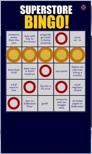 Superstore Bingo