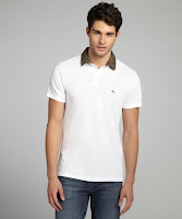Etro white cotton pique printed collar polo shirt