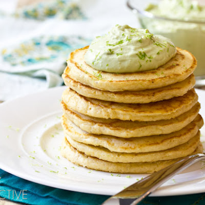Corn Cakes with Avocado Cream