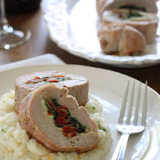 Spinach Prosciutto and Mozzarella Stuffed Pork Tenderloin