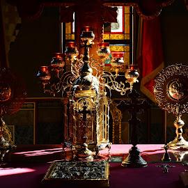 Church Objects by Alah Ja Ja Bin - Artistic Objects Cups, Plates & Utensils ( plates, cups, church, utensils, artistic objects, photography, places of worship )