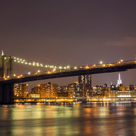 Brooklyn Bridge by Jason Aspland - Buildings & Architecture Bridges & Suspended Structures ( colour, amazing, brooklyn bridge, incredible, beautiful, photographer, night, bridge, longexposure, stunning, newyork, photography )