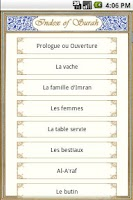 Screenshot of Quran - French