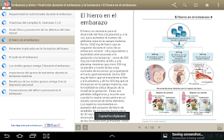 Screenshot of Miniatlas Embarazo y dieta