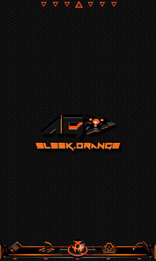 Sleek Orange GO Launcher Theme