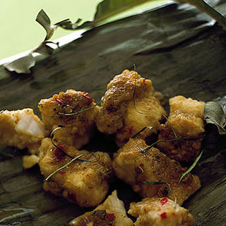 Steamed Catfish in Banana Leaves