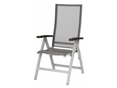 acheter fauteuil pliant tinos structure aluminium toile textil ne jati kebon villars chez. Black Bedroom Furniture Sets. Home Design Ideas