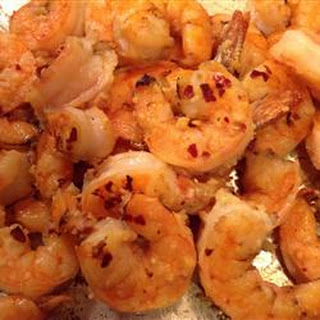 Broiled Lemon and Garlic Tiger Prawns