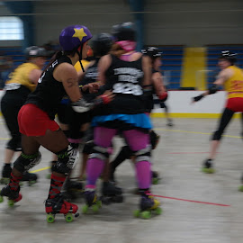 Roller Derby by Dave Harrell - Sports & Fitness Other Sports ( roller, athletics, sports, roller derby, women )
