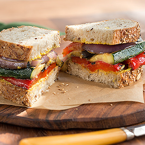 Grilled Herbed Veggie Chicken Sandwich