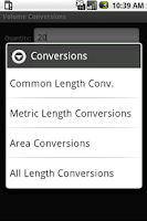 Screenshot of Volume Conversion