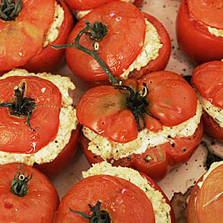 Oven-Roasted Tomatoes Stuffed with Goat Cheese