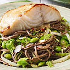 Soba Salad & Teriyaki Black Cod