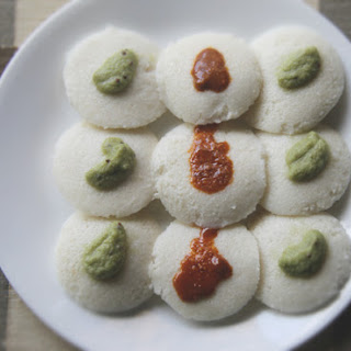 Steamed Indian Lentil and Rice Cakes (Idlis)