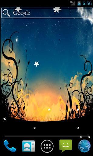 Night Fallen Stars LWP
