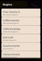 Screenshot of Izekre-Szedrek mobil recipes
