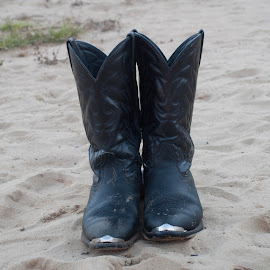 Boots and Sand by Teresa Francis - Artistic Objects Clothing & Accessories ( fort boonesboro, sand, cowboy boots, boots, kentucky river )