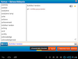 Screenshot of Astrotek MalayDictionary(Free)