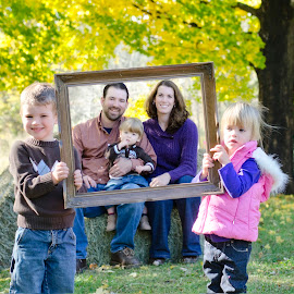 Fall Family Frame by Christina Smith - People Family ( frame, family portrait, twisted images photography,  )