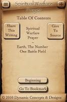 Screenshot of Spiritual Warfare Prayer