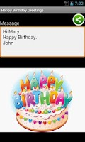 Screenshot of Happy Birthday Greetings