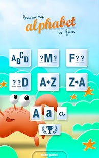 Learning alphabet is fun - screenshot