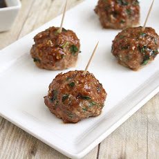 Baked Teriyaki Turkey Meatballs