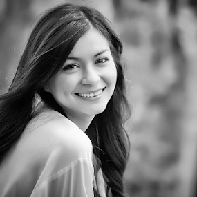 Sandra Olga by Kelvin Austin - Black & White Portraits & People
