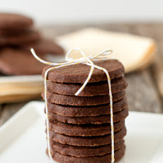 Mocha Shortbread with Nutella