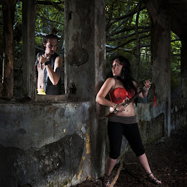 Confrontation by René Švigir - People Couples ( cosplay, color, woman, outdoor, man )