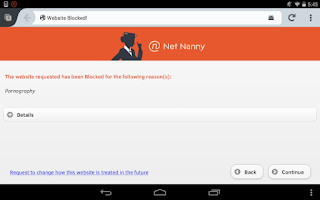 Screenshot of Net Nanny for Android