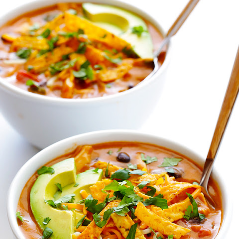 20-Minute Cheesy Chicken Enchilada Soup