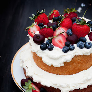 Berries and Cream Vanilla Cake