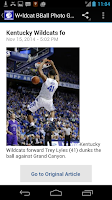 Screenshot of Kentucky Basketball UK
