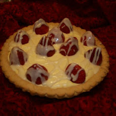 White Chocolate Strawberry Pie