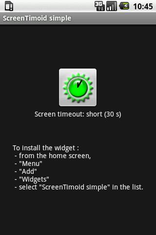 ScreenTimoid widget simple